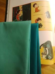 türkisfarbenen Stoff für Knuddelfant bei Kidstixx besorgt